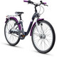 s'cool chiX 24 3-S Bicicletta bambino alloy grigio/viola